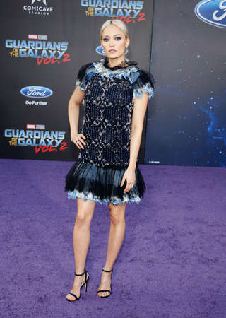dolby: Pom Klementieff at the Los Angeles premiere of Guardians Of The Galaxy Vol. 2 held at the Dolby Theatre in Hollywood, USA on April 19, 2017.
