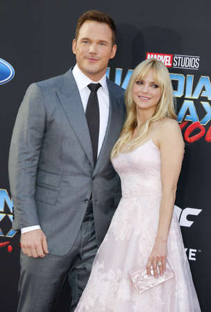dolby: Chris Pratt and Anna Faris at the Los Angeles premiere of Guardians Of The Galaxy Vol. 2 held at the Dolby Theatre in Hollywood, USA on April 19, 2017. Editorial
