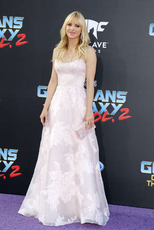 dolby: Anna Faris at the Los Angeles premiere of Guardians Of The Galaxy Vol. 2 held at the Dolby Theatre in Hollywood, USA on April 19, 2017.