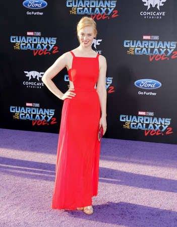 dolby: Deborah Ann Woll at the Los Angeles premiere of Guardians Of The Galaxy Vol. 2 held at the Dolby Theatre in Hollywood, USA on April 19, 2017. Editorial