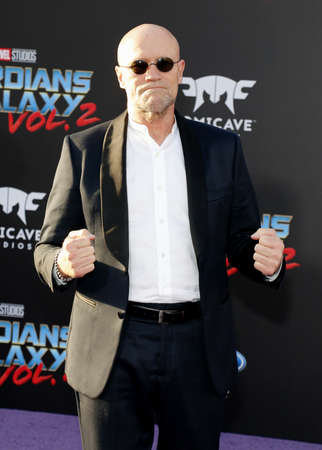 dolby: Michael Rooker at the Los Angeles premiere of Guardians Of The Galaxy Vol. 2 held at the Dolby Theatre in Hollywood, USA on April 19, 2017. Editorial