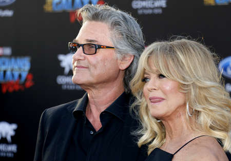Goldie Hawn and Kurt Russell at the Los Angeles premiere of Guardians Of The Galaxy Vol. 2 held at the Dolby Theatre in Hollywood, USA on April 19, 2017.