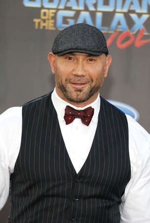 Dave Bautista at the Los Angeles premiere of Guardians Of The Galaxy Vol. 2 held at the Dolby Theatre in Hollywood, USA on April 19, 2017.