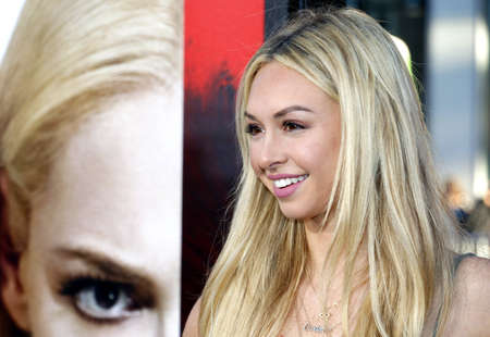 Corinne Olympios at the Los Angeles premiere of Unforgettable held at the TCL Chinese Theatre in Hollywood, USA on April 18, 2017.