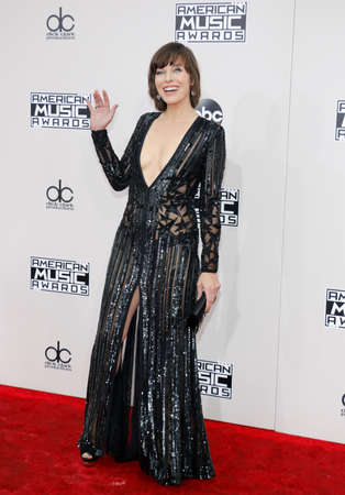 Milla Jovovich at the 2016 American Music Awards held at the Microsoft Theater in Los Angeles, USA on November 20, 2016. Editorial