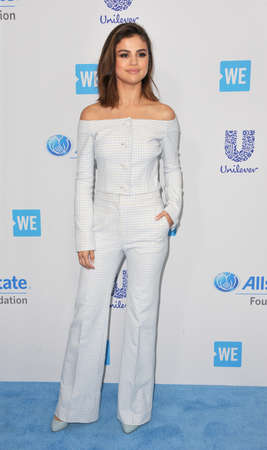 gomez: Selena Gomez at the WE Day California 2017 held at the Forum in Inglewood, USA on April 27, 2017.