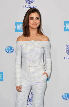 Selena Gomez at the WE Day California 2017 held at the Forum in Inglewood, USA on April 27, 2017.