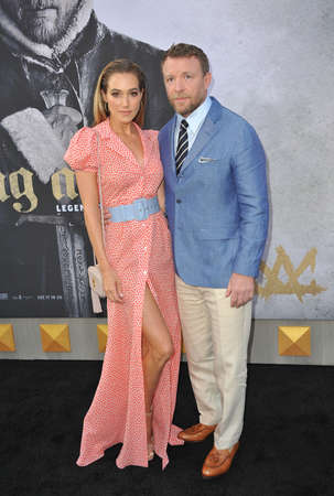 Jacqui Ainsley and Guy Ritchie at the Los Angeles premiere of 'King Arthur: Legend Of The Sword' held at the TCL Chinese Theatre in Hollywood, USA on May 8, 2017.