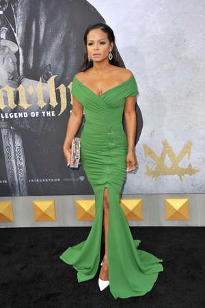 Christina Milian at the Los Angeles premiere of King Arthur: Legend Of The Sword held at the TCL Chinese Theatre in Hollywood, USA on May 8, 2017.