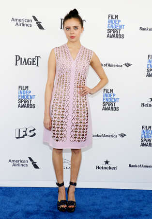 Bel Powley at the 2016 Film Independent Spirit Awards held at the Santa Monica Beach in Santa Monica, USA on February 27, 2016. Editorial