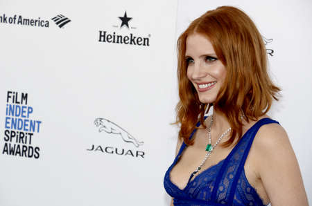 Jessica Chastain at the 2016 Film Independent Spirit Awards held at the Santa Monica Beach in Santa Monica, USA on February 27, 2016.