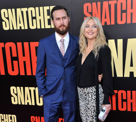 snatched: Kate Hudson and Danny Fujikawa at the Los Angeles premiere of Snatched held at the Regency Village Theatre in Westwood, USA on May 10, 2017.