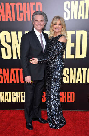 snatched: Goldie Hawn and Kurt Russell at the Los Angeles premiere of Snatched held at the Regency Village Theatre in Westwood, USA on May 10, 2017. Editorial
