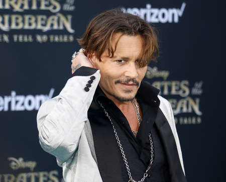Johnny Depp at the U.S. premiere of Pirates Of The Caribbean: Dead Men Tell No Tales held at the Dolby Theatre in Hollywood, USA on May 18, 2017. Editorial