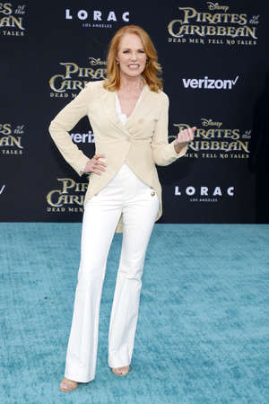 Marg Helgenberger at the U.S. premiere of Pirates Of The Caribbean: Dead Men Tell No Tales held at the Dolby Theatre in Hollywood, USA on May 18, 2017.