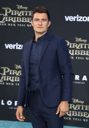 Orlando Bloom at the U.S. premiere of Pirates Of The Caribbean: Dead Men Tell No Tales held at the Dolby Theatre in Hollywood, USA on May 18, 2017.