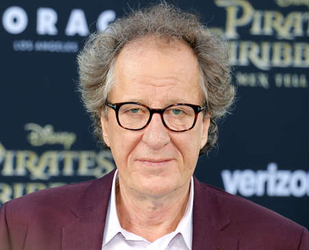 Geoffrey Rush at the U.S. premiere of Pirates Of The Caribbean: Dead Men Tell No Tales held at the Dolby Theatre in Hollywood, USA on May 18, 2017.