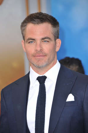 Chris Pine at the Los Angeles premiere of Wonder Woman held at the Pantages Theatre in Hollywood, USA on May 25, 2017. Editorial