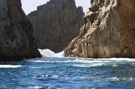The Arch of Cabo San Lucas in Baja California Sur, Mexico on May 2017.