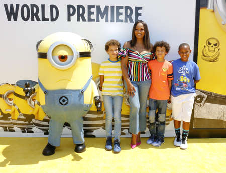 Garcelle Beauvais at the World premiere of Despicable Me 3 held at the Shrine Auditorium in Los Angeles, USA on June 24, 2017.