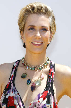 Kristen Wiig at the World premiere of Despicable Me 3 held at the Shrine Auditorium in Los Angeles, USA on June 24, 2017. Editorial