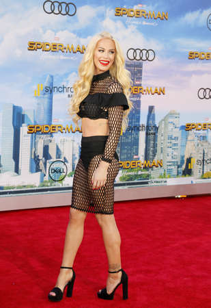 Gigi Gorgeous at the World premiere of Spider-Man: Homecoming held at the TCL Chinese Theatre in Hollywood, USA on June 28, 2017.