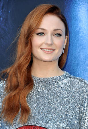 Sophie Turner at the HBO's 'Game Of Thrones' Season 7 premiere held at the Walt Disney Concert Hall in Los Angeles, USA on July 12, 2017. 報道画像