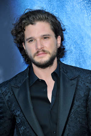 Kit Harington at the HBOs Game Of Thrones Season 7 premiere held at the Walt Disney Concert Hall in Los Angeles, USA on July 12, 2017.