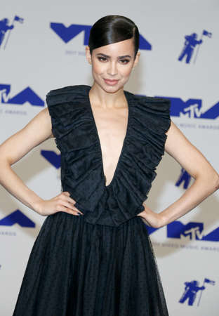 Sofia Carson at the 2017 MTV Video Music Awards held at the Forum in Inglewood, USA on August 27, 2017.