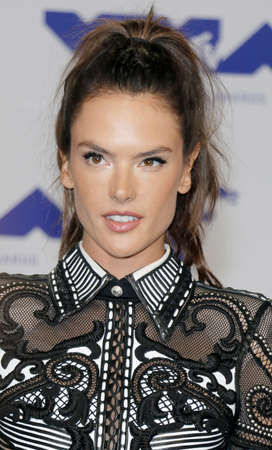 Alessandra Ambrosio at the 2017 MTV Video Music Awards held at the Forum in Inglewood, USA on August 27, 2017. Editorial