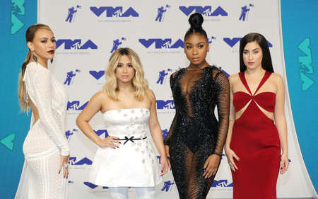 Ally Brooke, Normani Kordei, Dinah Jane and Lauren Jauregui of Fifth Harmony at the 2017 MTV Video Music Awards held at the Forum in Inglewood, USA on August 27, 2017.