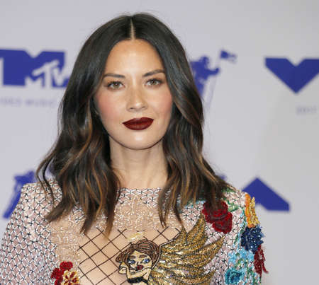 Olivia Munn at the 2017 MTV Video Music Awards held at the Forum in Inglewood, USA on August 27, 2017.
