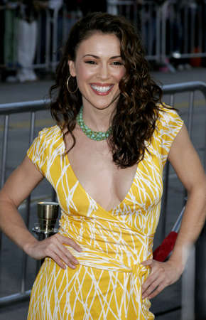 Alyssa Milano at the Los Angeles premiere of The Break-Up held at the Mann Village Theatre in Westwood, USA on May 22, 2006.