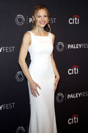 Halston Sage at the 11th Annual PaleyFest Fall TV Previews - Netflixs The Orville held at the Paley Center for Media in Beverly Hills, USA on September 13, 2017. Editorial