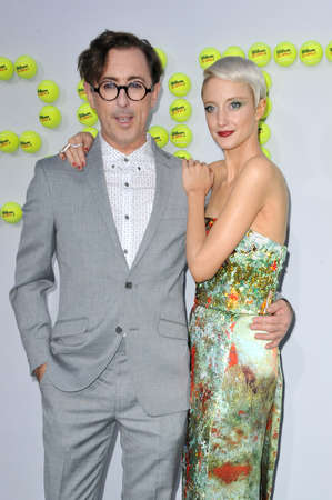 Alan Cumming and Andrea Riseborough at the Los Angeles premiere of Battle of the Sexes held at the Regency Village Theatre in Westwood, USA on September 16, 2017.