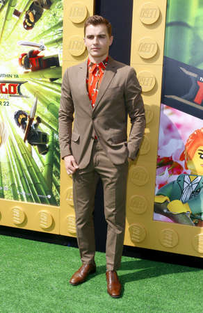 Dave Franco at the Los Angeles premiere of The LEGO Ninjago Movie held at the Regency Village Theatre in Westwood, USA on September 16, 2017.