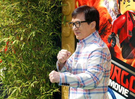 Jackie Chan at the Los Angeles premiere of The LEGO Ninjago Movie held at the Regency Village Theatre in Westwood, USA on September 16, 2017. Editorial