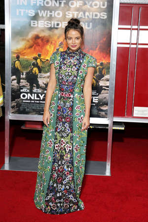 Keleigh Sperry at the Los Angeles premiere of Only The Brave held at the Regency Village Theatre in Westwood, USA on October 8, 2017. Editorial
