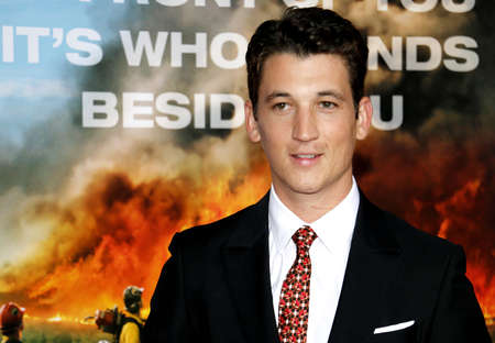 Miles Teller at the Los Angeles premiere of Only The Brave held at the Regency Village Theatre in Westwood, USA on October 8, 2017. Editorial