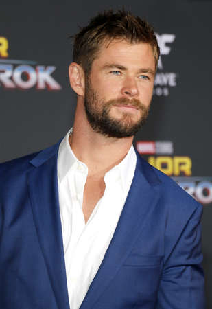 Chris Hemsworth at the World premiere of Thor: Ragnarok held at the El Capitan Theatre in Hollywood, USA on October 10, 2017. Editorial