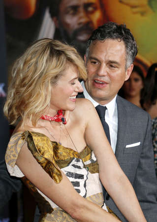 Mark Ruffalo and Sunrise Coigney at the World premiere of Thor: Ragnarok held at the El Capitan Theatre in Hollywood, USA on October 10, 2017. Editorial