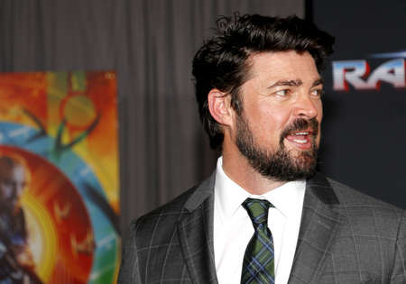 Karl Urban at the World premiere of Thor: Ragnarok held at the El Capitan Theatre in Hollywood, USA on October 10, 2017.