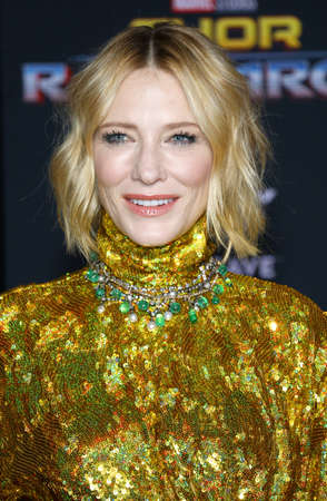 Cate Blanchett at the World premiere of Thor: Ragnarok held at the El Capitan Theatre in Hollywood, USA on October 10, 2017. Editorial
