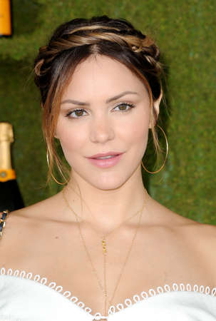 Katharine McPhee at the 8th Annual Veuve Clicquot Polo Classic held at the Will Rogers State Historic Park in Pacific Palisades, USA on October 14, 2017.