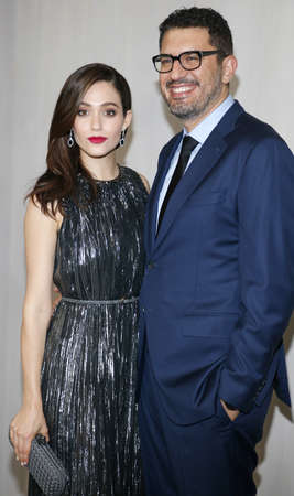 Emmy Rossum and Sam Esmail at the Hammer Museum Gala In The Garden held at the Hammer Museum in Westwood, USA on October 14, 2017.