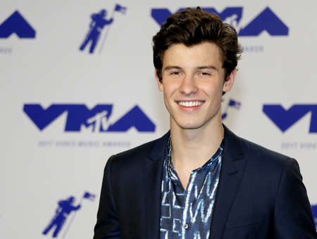 Shawn Mendes at the 2017 MTV Video Music Awards held at the Forum in Inglewood, USA on August 27, 2017. Editorial