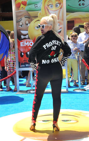 Christina Aguilera at the Los Angeles premiere of The Emoji Movie held at the Regency Theatre in Westwood, USA on July 23, 2017. Editorial