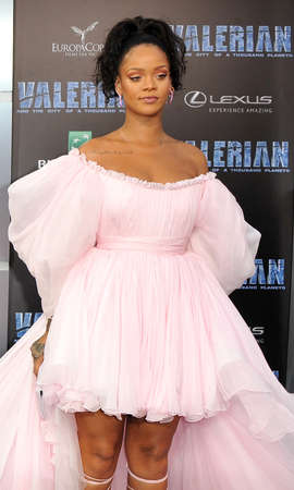 Rihanna at the World premiere of Valerian And The City Of A Thousand Planets held at the TCL Chinese Theatre in Hollywood, USA on July 17, 2017.
