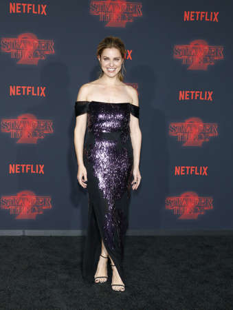 Cara Buono at the Netflixs season 2 premiere of Stranger Things held at the Regency Village Theatre in Westwood, USA on October 26, 2017. Editorial