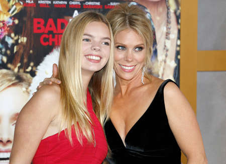 Catherine Rose Young and Cheryl Hines at the Los Angeles premiere of A Bad Moms Christmas held at the Regency Village Theatre in Westwood, USA on October 30, 2017.